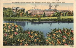 Simmons College and Mrs. Jack Gardner's Palace, in the Fenway Postcard