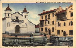 Belenm Church - Oldest in the City Postcard