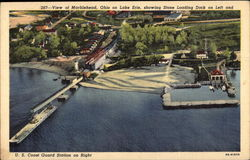 View of Marblehead, Ohio on Lake Erie Postcard