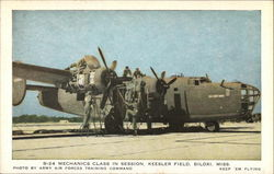 B-24 Mechanics Class in Session, Keesler Field