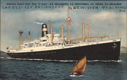 "American Export Lines' New ""4 Acres"" - S.S. Excambion, S.S. Exochorda, S.S. Exeter, S.S. Excalibur"