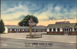 Cedar Court and Cafe Postcard