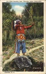 Chief Standing Deer, Cherokee Indian Reservation