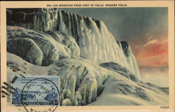 Ice Mountain From Foot of Falls, Niagara Falls