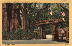 Entrance to Big Trees Park