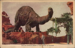 Sinclair Dinosaur Exhibit at the Century of Progress Postcard