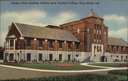 Student Unio Building, Indiana State Teachers College Postcard