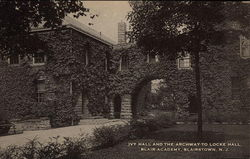 Ivy Hall and the Archway to Locke Hall, Blair Academy
