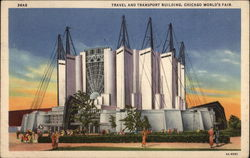 Travel and Transport Building, Chicago World's Fair Postcard
