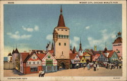 Midget City, Chicago World's Fair Postcard