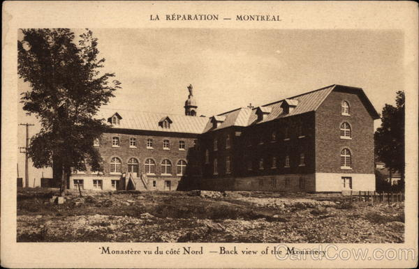 Monastere vu du cote Nord - Back view of the Monastery Montreal Canada