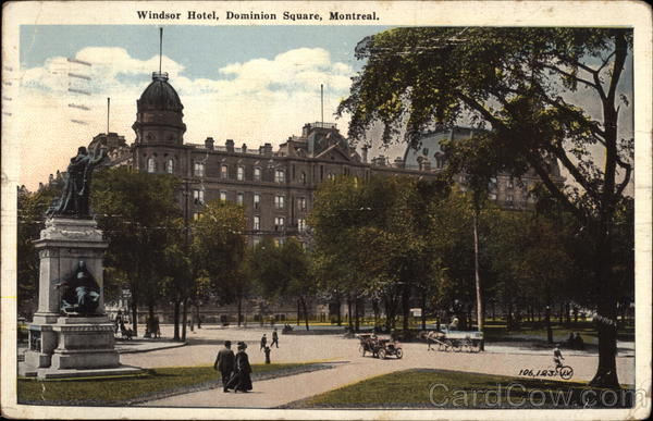 Windsor Hotel, Dominion Square Montreal Canada Quebec