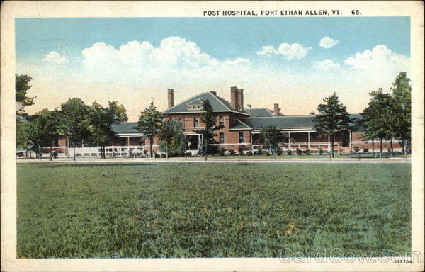 Post Hospital Fort Ethan Allen Vermont