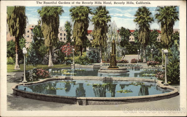The beautiful gardens of the Beverly Hills Hotel California