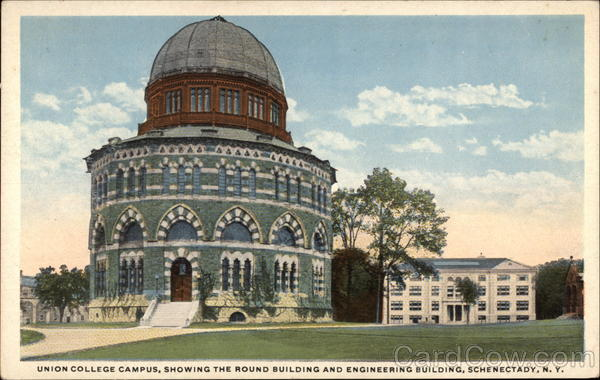 Union College Campus, Showing the Round Building and Engineering Building Schenectady New York