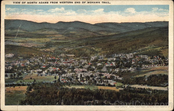 View of North Adams from Western End of Mohawk Trail Massachusetts
