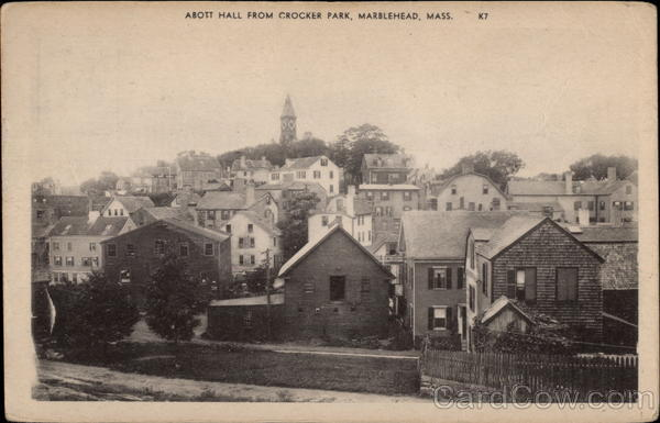 Abott Hall From Crocker Park Marblehead Massachusetts