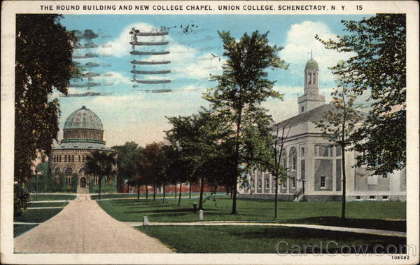 The Round Building and New College Chapel, Union College Schenectady New York