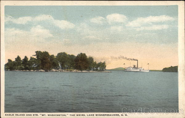 Eagle Island and Str. Mt. Washington, The Weirs Lake Winnipesaukee New York