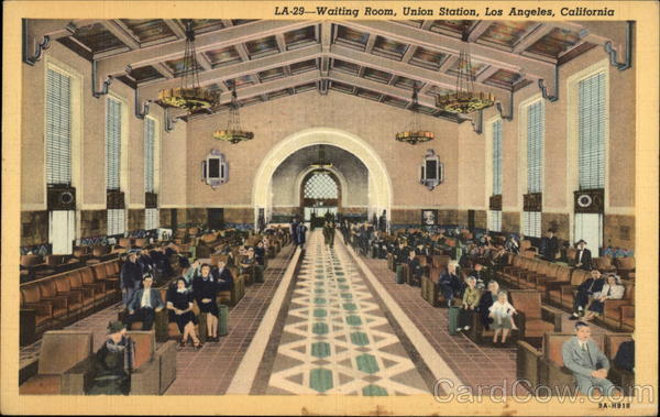 Waiting Room, Union Station Los Angeles California