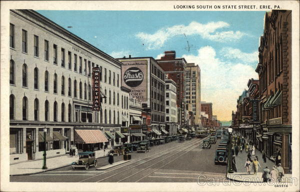 Looking South on State Street Erie Pennsylvania