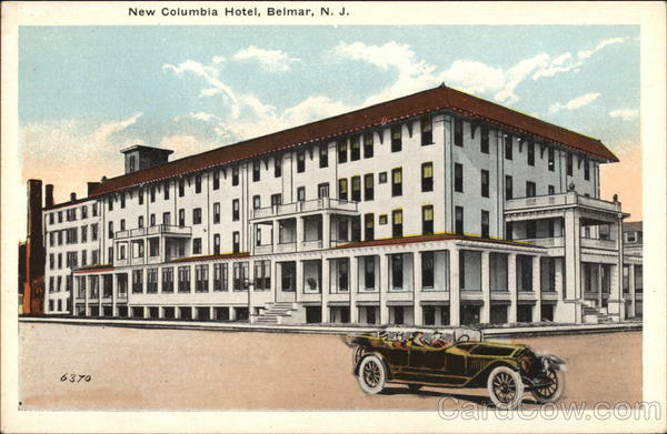 New Columbia Hotel Belmar New Jersey