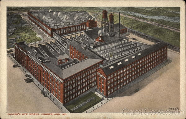 Aerial View of Footer's Dye Works Cumberland Maryland