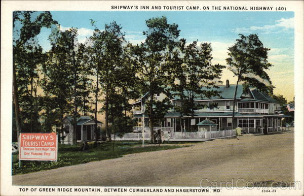 Shipway's Inn and Tourist Camp Cumberland Maryland