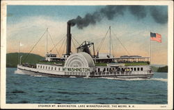 Steamer Mt. Washington on Lake Winnepesaukee Postcard