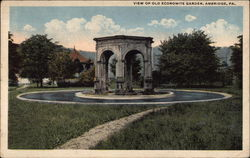 View of Old Economite Garden Postcard