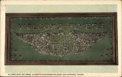 Flyers Coat of Arms, Albert's Buckhorn Saloon Postcard