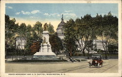 Peace Monument and U. S. Capitol