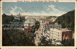 Central Avenue, Looking South, Hot Springs, Arkansas