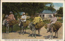"""Greetings from Jamaica,"" on the way home from Market"