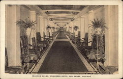 Peacock Alley, Congress Hotel and Annex Postcard