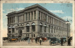 Public Library, Chicago Postcard