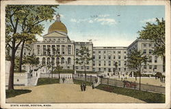State House, Boston, Massachusetts Postcard
