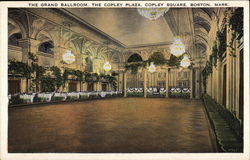 The Grand Ballroom, The Copley Plaza, Copley Square Postcard