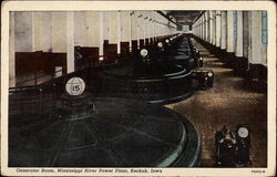 Generator Room, Mississippi River Power Plant Postcard