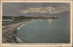 Nobska Beach and Lighthouse by Moonlight