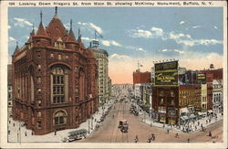 Looking Down Niagara Street from Main Street Showing McKinley Monument