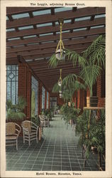 The Loggia, Adjoining Brazos Court, Hotel Brazos