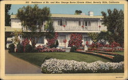 Residence of Mr. and Mrs. George Burns (Gracie Allen)