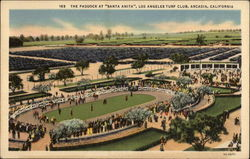 "The Paddock at ""Santa Anita"", Los Angeles Turf Club"