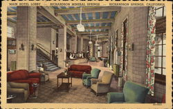 Main Hotel Lobby, Richardson Mineral Springs