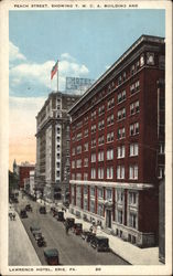 Peach Street, showing Y.M.C.A. Building and Lawrence Hotel