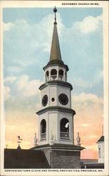 Reformed Church Spire Containing Town Clock and Chimes, Erected 1763