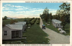 Tourist Cottages at Shipway's Inn on the National Highway (40), Top of Green Ridge Mountain