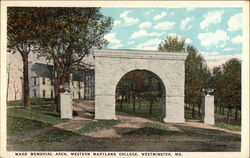 Ward Memorial Arch, Western Maryland College
