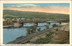 View of Chemung River and Erie R. R. Bridge